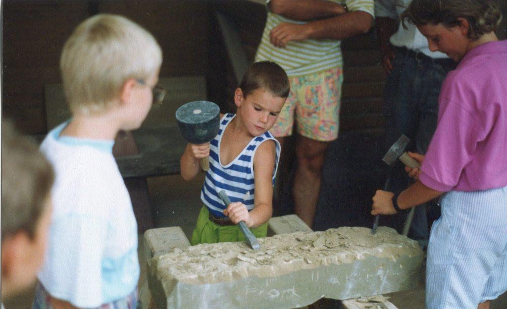 Steinmetzarbeiten Igl , Über uns - Thomas Igl in jungen Jahren